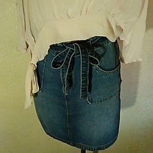 Jean Slit Skirt